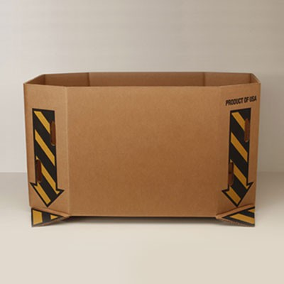 #594 Bin Box 26'' Saf-T Print - Kraft - Vented