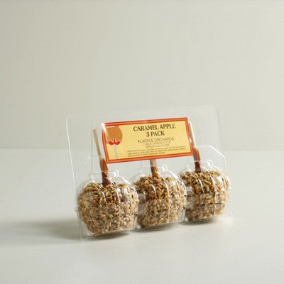 Caramel Apple Fold-Over Tray - 3 Pack