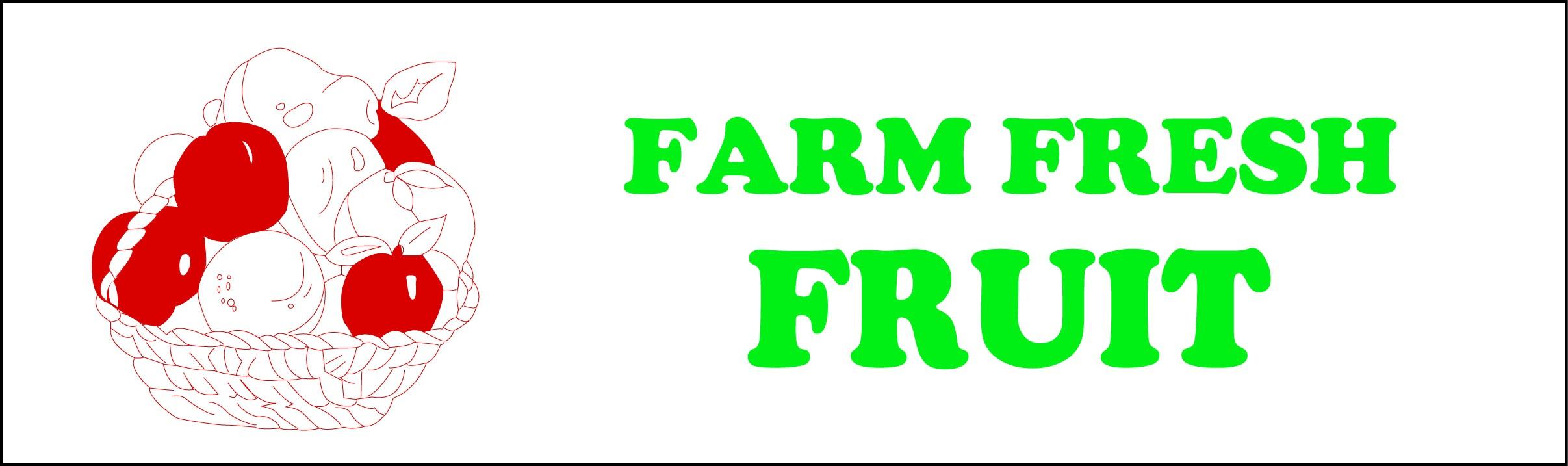 Banner ''Farm Fresh Fruit'' - 3' x 10'