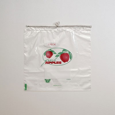 Quarter Peck Drawstring Apple Bag