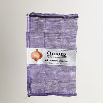 25lb Purple Mesh Onion Bag