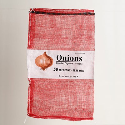 50lb Red Mesh Onion Bag