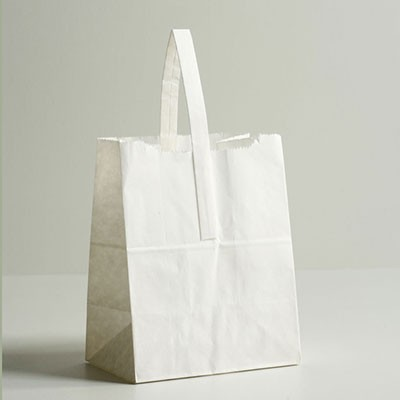 Jumbo Paper Tote Bag - White