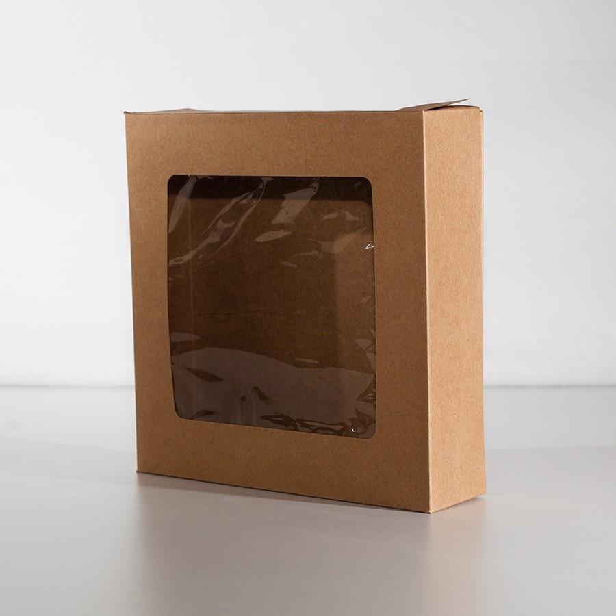Window Pie Box - Kraft