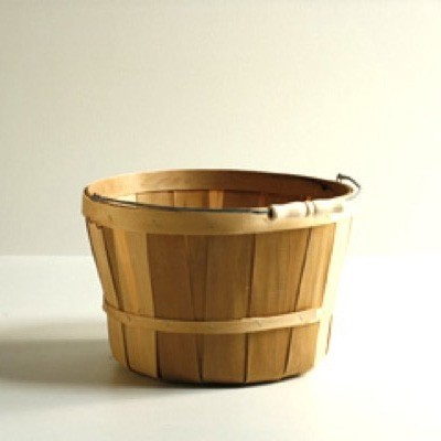 One Peck Wooden Baskets