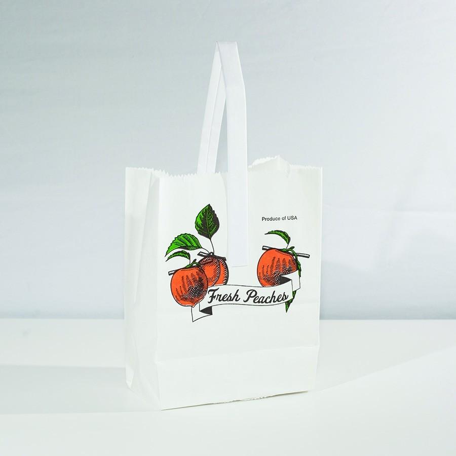 Paper Handle Bag Quarter Peck - Peach