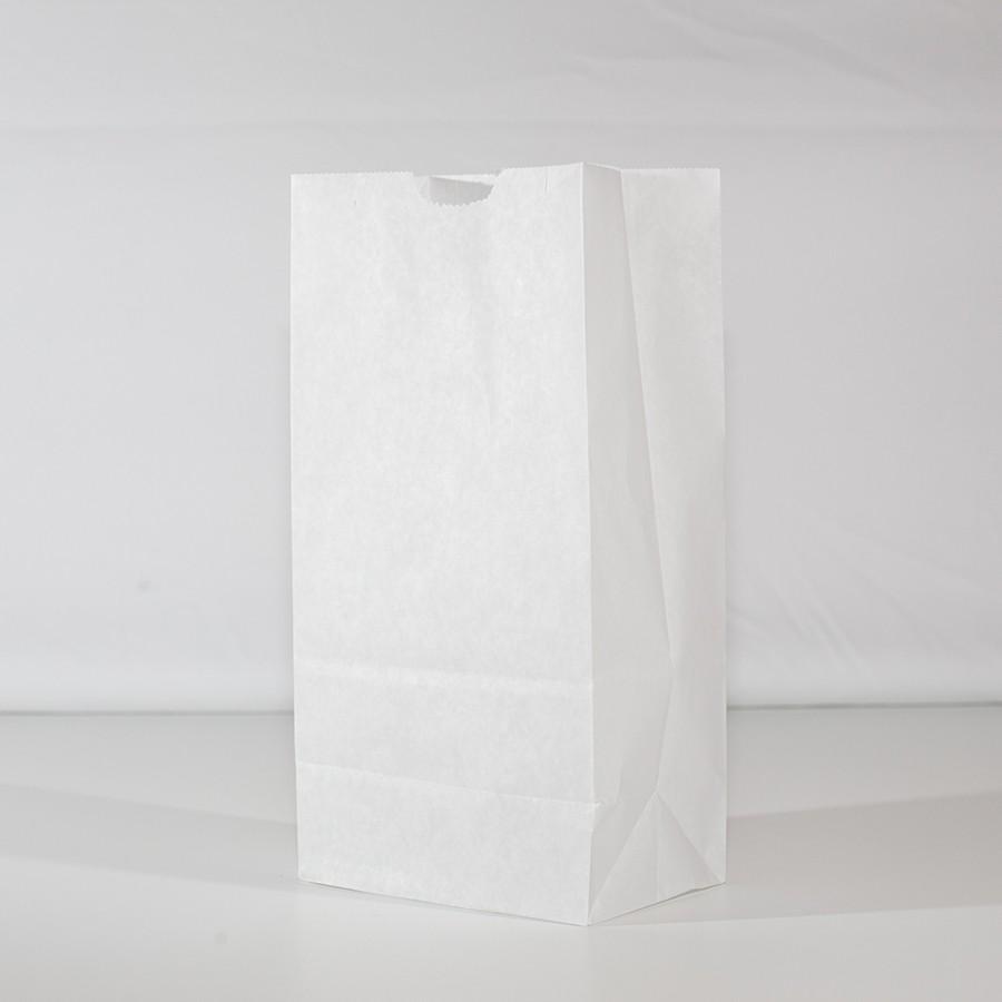 4lb Waxed Donut Bag - White