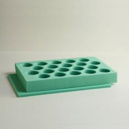 20 Count Foam Gift Carton Set- Insert & Pads - Green