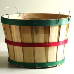 Half Bushel Wooden Baskets