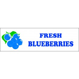 Banner ''Fresh Blueberries'' - 3' X 10'