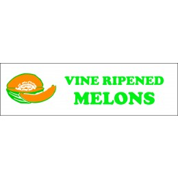 Banner ''Vine Ripened Melons'' - 3' X 10'