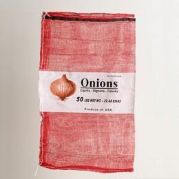 50lb Red Mesh Onion Bag