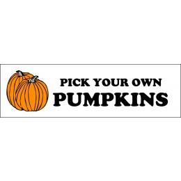 Banner ''P.Y.O. Pumpkins'' - 3' X 10'