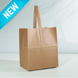 Paper Handle Bag Half Peck - Plain Kraft