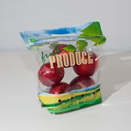 2# Printed Pouch Bag with Slider Zipper-Vented-Fresh Produce