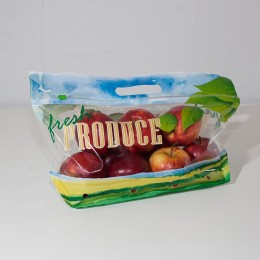 3# Printed Pouch Bag with Slider Zipper-Vented-Fresh Produce