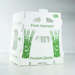 11 lb Asparagus Carton Plastic - Stock Design
