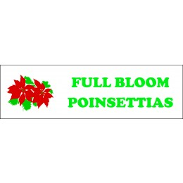 Banner ''Full Bloom Poinsettias'' - 3' X 10'