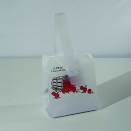 Plastic Tote Bag Quarter Peck - Apple Design