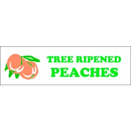 Banner ''Tree Ripened Peaches'' - 3' X 10'