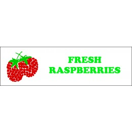 R1 Banner ''Fresh Raspberries'' - 3' X 10'