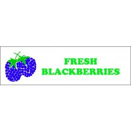 Banner ''Fresh Blackberries'' - 3' x 8'