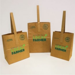 Poly-Lined Kraft Paper Tote Bags