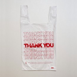 Large Check-Out T-Shirt Bag - Thank You Print