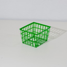 Pint Plastic Mesh Tray - Green Oblong