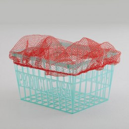Net Berry Cap With Elastic Band - Red