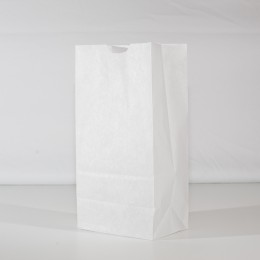 4lb Waxed Donut Bag - White