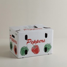 1 1/9 Bushel Vegetable Carton - Pepper Print