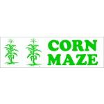 K2 BANNER ''CORN MAZE''   3' X 8'