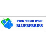 Banner ''P.Y.O. Blueberries''  - 3' X 10'