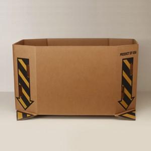 "#594 Bin Box 26"" Saf-T Print - Kraft Vented"